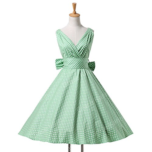 Mywine Womens Summer Dresses Women 50S 60S Robe Vintage Retro Pin Up Swing Polka Dot Tea Rockabilly (Regal Lace Robe)