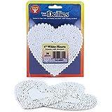 Hygloss 93641 36-Piece Heart Doilies, 4-Inch, White