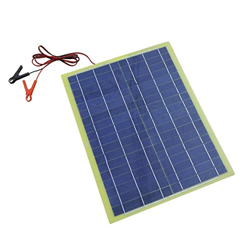 ECO-WORTHY-20-Watts-Epoxy-Solar-Panel-with-2m-Cable-30A-Clip-for-12V-Camping-Battery-Charger