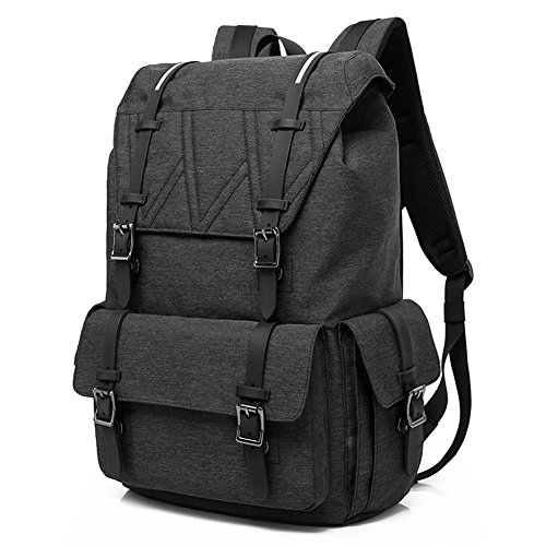 Laptop Backpack - AKASO Large Capacity College School Backpack for Laptops up to 15.6-inches, Water Resistant and Durable, Stylish Megnetic Snap Closures, Perfect for Everyday Life and Travel - What Camping Go To To Pack