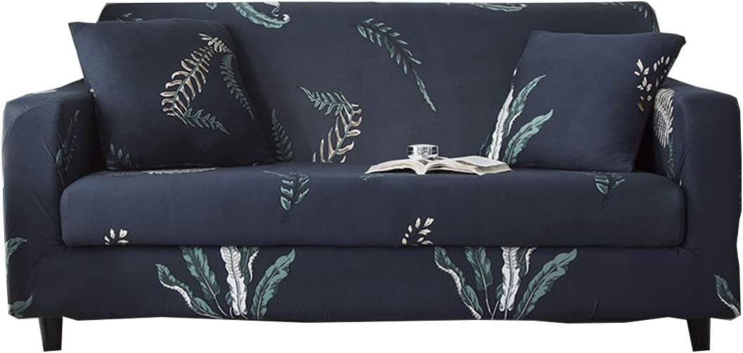 FORCHEER Stretch Sofa Cover Printed Pattern 1-Seat Spandex Couch Cover slipcover for 1 Cushion Couch 1 Piece Furniture Protector for Living Room, Pets, Sofa