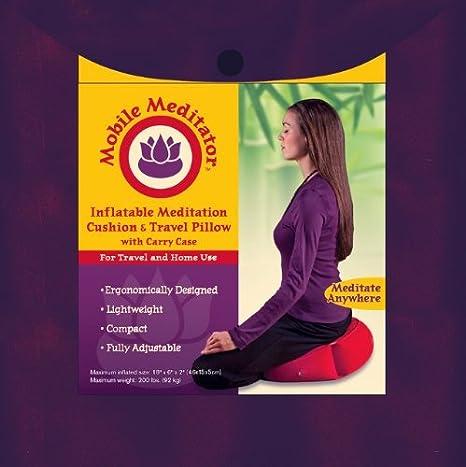 Mobile meditant aufblasbar Meditationskissen und Reisekissen