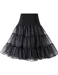 """HiQueen Women's 50s Vintage Rockabilly Petticoat, 26"""" Length Slip Tutu Underskirts"""