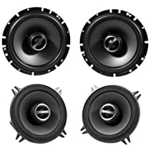 """Package: Alpine Sps-610 6.5"""" 2 Way Pair of Coaxial Car Speakers + Alpine Sps-510 5.25"""" 2 Way Pair of Car Speakers"""
