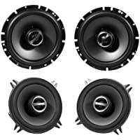 Package: Alpine Sps-610 6.5 2 Way Pair of Coaxial Car Speakers + Alpine Sps-510 5.25 2 Way Pair of Car Speakers