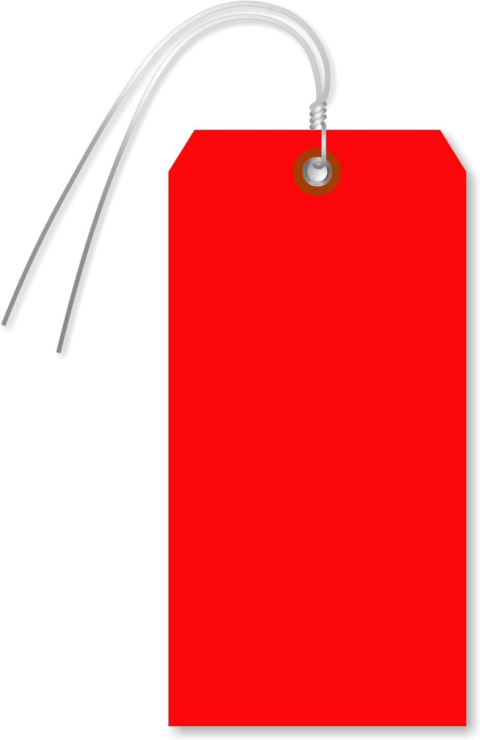 """SmartSign Blank Red Tag with Wire 
