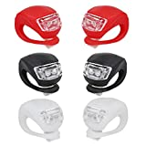Bike Bicycle Lights Front and Rear, Silicone Led Bike Light Set for Night...