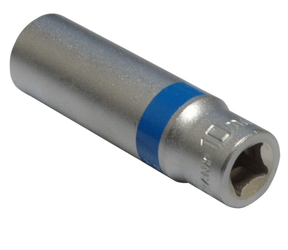Douille de vissage 1//4 12 pans 10mm longue profonde rallong/ée haute qualit/é professionnelle en acier CrV Aerzetix