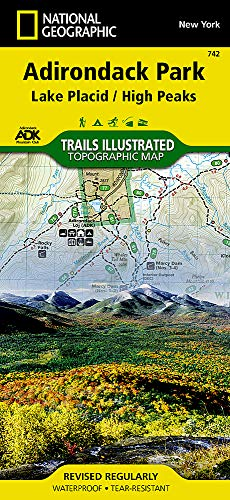 Lake Placid, High Peaks: Adirondack Park (National Geographic Trails Illustrated Map) Adirondack High Peaks Map
