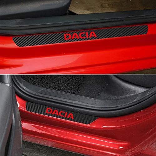FSXTLLL Seuil de Porte de Voiture Autocollant seuil de porti/ère pour Dacia Duster Logan Sandero 2 Dokker