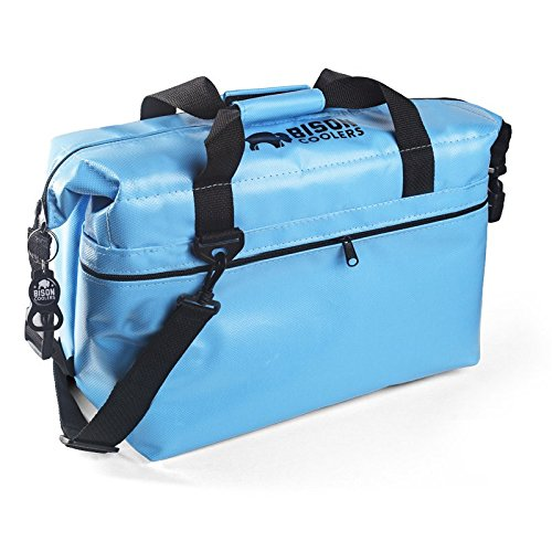 BISON COOLERS 24 Can Softpak Cooler by (Blue)