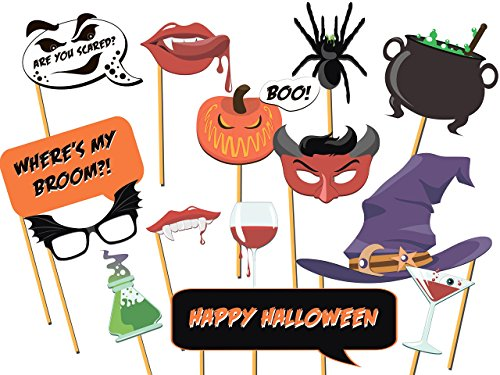 Custom Halloween Photo booth prop - Size 36x24, Halloween, Halloween props, Trick-or-Treat Photo props, Halloween party props, Happy Halloween, Handmade Party Supply Photo Booth Props (Easy Halloween Treats To Make At Party)