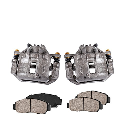 Callahan CCK04025 [2] FRONT Premium Loaded Original Caliper Pair + Ceramic Brake Pads + Hardware Brake Kit (Accents Caliper Brake)