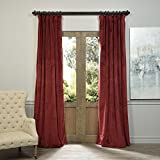 Cheap IYUEGO 200W x 102L Inch (set of 1 Panel), Pinch Pleat Solid Velvet Lining 90% Blackout Curtain Thermal Insulated Patio Door Curtain Panel Drape For Traverse Rod and Track, Burgundy