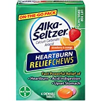 6 Ct Alka-Seltzer Heartburn Relief Chews in Strawberry and Orange