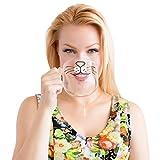 The Original Cat Beard Mug - Cute and Funny Glass Coffee Mug by Nacisse