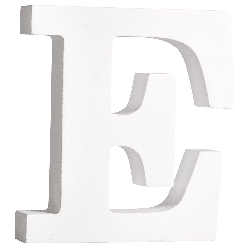 11/cm St/àƒ /€ rke 2/cm Rayher 62656000/Lettre E en MDF Wei/ß