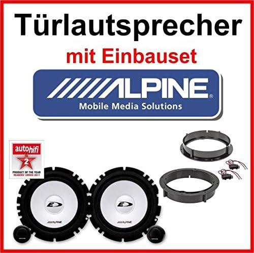 Lautsprecher Alpine mit Einbauset f/ür Opel Vectra B
