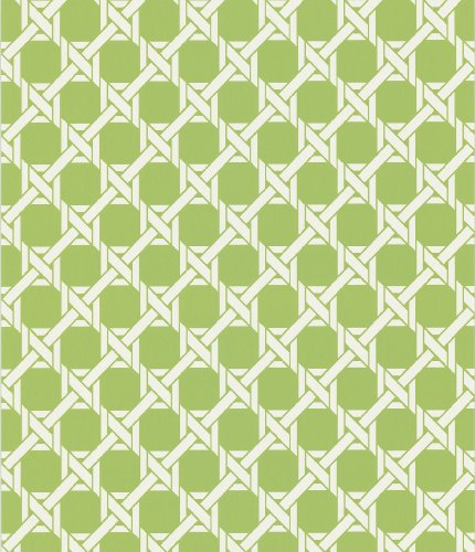 Kenneth James 566-44913 Echo Design Lattice Light Green Trellis Wallpaper