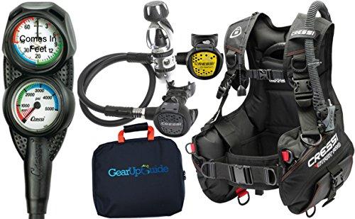 Cressi Start Pro 2.0 Scuba Diving Gear Package Assembled GUpG Reg Bag, Mini Console PD2 MD