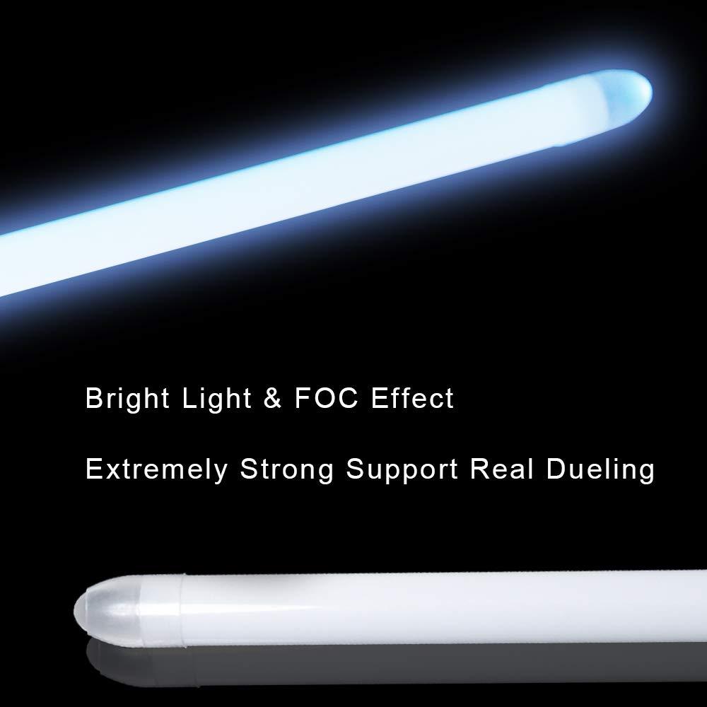 YDD LED Light Saber Force FX Lightsaber with Sound and Light, Metal Hilt, Star Wars Toy for Kids (Silver Hilt Iceblue Blade) by YDD (Image #4)