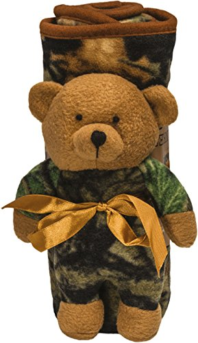 Baby Hunters Blanket and Bear Gift Set (Brown)