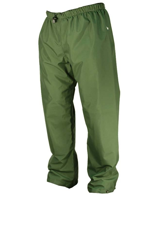 3XL WaterShed 925043-TGR-3XL StormShield Double Knee Waterproof GORE-TEX Waist Pant with Drawstring and Ankle Snaps Forest Green