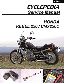 1985-2009 honda cmx250c rebel 250 service manual by [cyclepedia press llc]