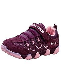 DADAWEN Boy's Girl's Children Sneakers Casual Magic Strap Running Shoes (Toddler/Little Kid/Big Kid)