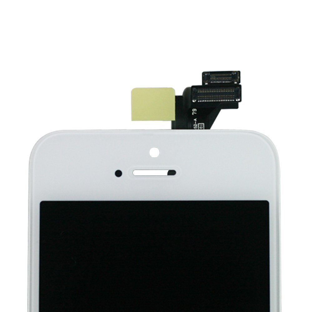 SANKA iPhone 5S LCD Screen Replacement White, Digitizer Display Retina Touch Screen Glass Frame Assembly for iPhone 5S - White (Free Tools Included) by SANKA (Image #4)