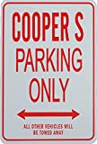 mini cooper parking sign - COOPER S Parking Only Sign - Miniature Parking Signs ideal for the MINI enthusiast