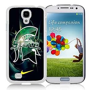 Samsung Galaxy S4 Michigan State Spartans 01 White Screen Cellphone Case Unique and Genuine Design