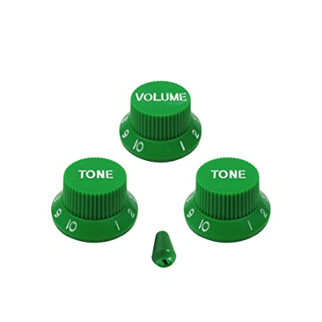 FLEOR Pieza de guitarra 2T1V, botones para volumen, con 5 vías, interruptor para