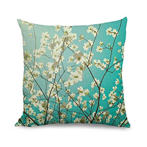 wendana cherry throw pillow covers 18 x 18 linen throw pillows couch pillow covers decorative for teen girls