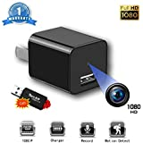 Hidden Camera - Mini Spy Hidden Camera, Nanny Cam, Spy Camera Charger, 1080P Portable Small HD Motion Detection, for Office, Home, Kids, Baby, Pet Monitoring Cam.