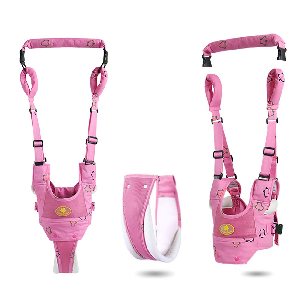 Baby Walker Harness, Adjustable Infant Walking Assistant, 4 in1 Detachable Crotch Safety Breathable Standing Up &Walking Learning Helper,Baby Walkers for Boys Girls 6-24 Month, Pulling and Lifting Use