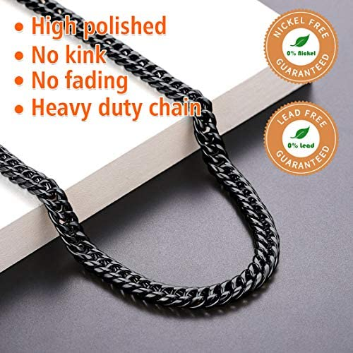 Double Link Chain Matte Gunmetal Double Link Curb Chain