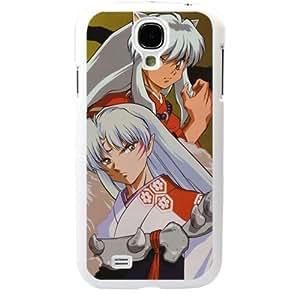 InuYasha Manga Anime Comic Sesshoumaru Samsung Galaxy S4 SIV I9500 TPU Soft Black or White case (White)