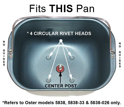 Nueva paleta de amasado para Oster modelo # ckstbr9050 PN # 144171 ...