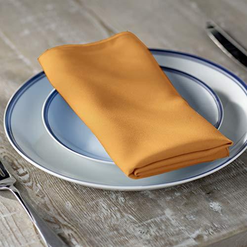 (LA Linen 10-Pack Polyester Poplin Napkins 17 by 17-Inch, Gold)