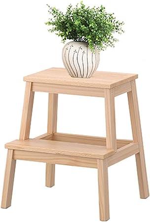 SONGTING Step stool Escalera de Tijera/Banco de Trabajo de Madera escalonada, Taburete de Madera, Escalera móvil, Herramienta de jardín expandida para Uso doméstico, Blanco: Amazon.es: Hogar
