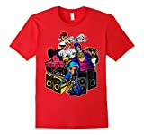 Mens Rap Graffiti DJ & Break Dancing Hip Hop T Shirt Large Red