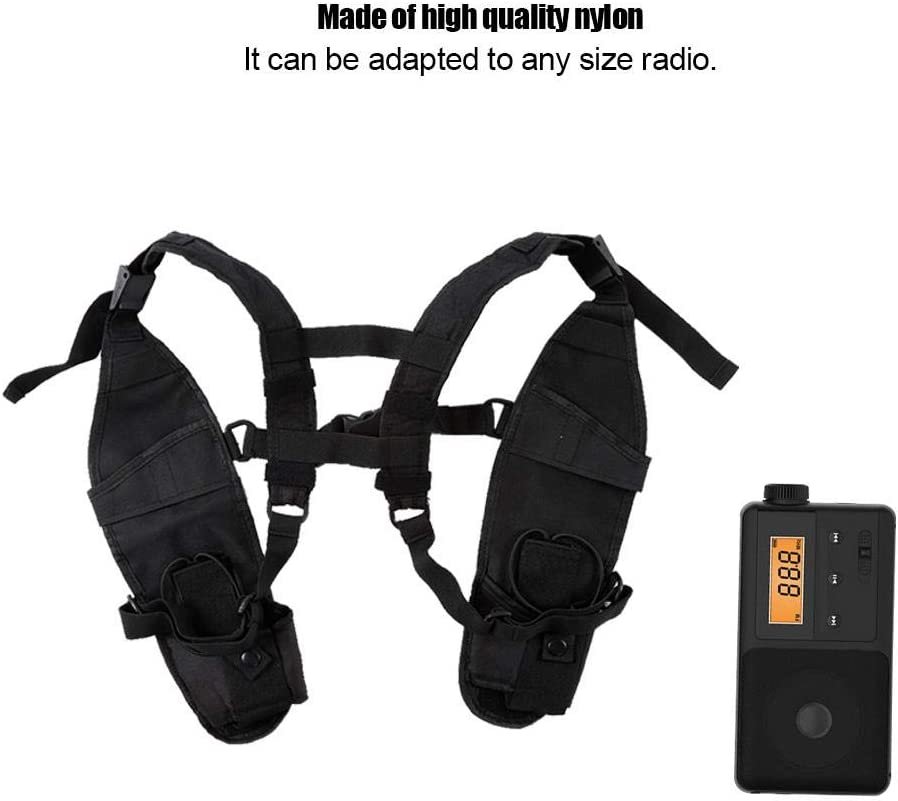 Garsent Two-Way Radio Vest Cover Nylon Universal Radio Rescue Cover with Adjustable Shoulder Strap for men and women