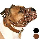 CollarDirect PitBull Dog Muzzle Leather AmStaff Muzzles...
