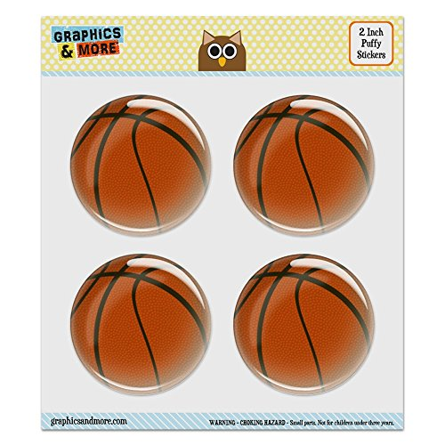 (Puffy Bubble Dome Scrapbooking Crafting Stickers - Basketball - Set of 4 - 2.0