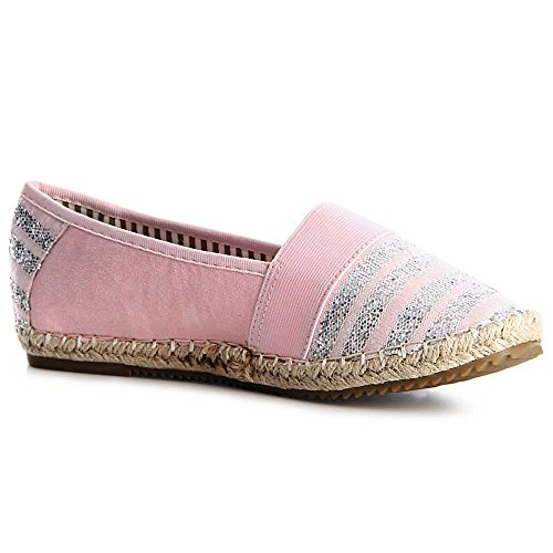 Femmes Chaussures Topschuhe24 Topschuhe24 Ballerines Rose Femmes wqvR4TxCx