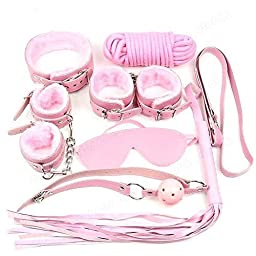 BDSM Bondage Kit by 50 Shades - Includes Restraints, Ball Gag, Whip, Rope, Collar