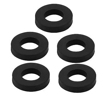 sourcing map 5pcs lavadora arandela plana redonda de goma negra ...