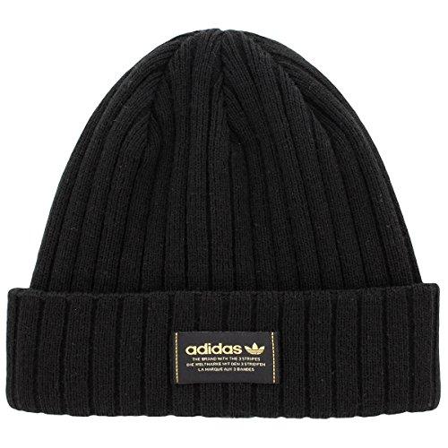 Adidas Mens Originals Wide Rib Knit Beanie, Black, One Size