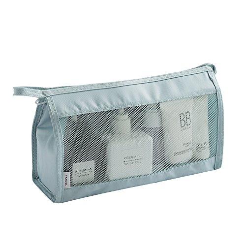LULAN Reisetasche kit Portable waschen Package Tour Must-haves Mädchen Kosmetik Tasche großer Kapazität, 26 * 15 * 9 cm, blau